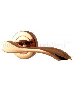 Rose Copper Cadenza Lever on Rose Door Handles