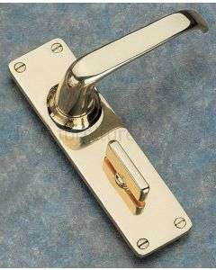 Unlacquered Brass Bathroom Door Handles 152x41mm