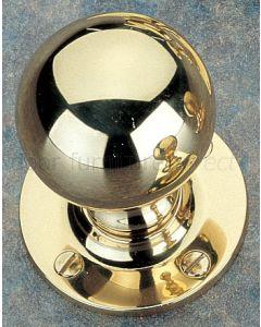 Unlacquered Brass Ball Mortice Door Knobs 48mm