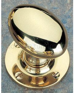 Unlacquered Brass Oval Mortice Door Knobs