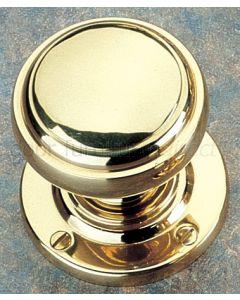 Unlacquered Brass 64mm Stepped Bun Door Knobs