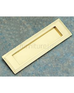 Unlacquered Brass Stepped Letter Plate 255x75mm