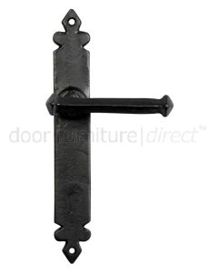 Blacksmith Black Sprung Lever Latch Door Handles 6050