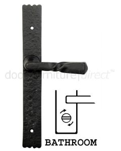Blacksmith Unsprung Black Bathroom Door Handles 6054