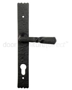 Blacksmith Black Unsprung 92mm Euro Profile Door Handles 6054