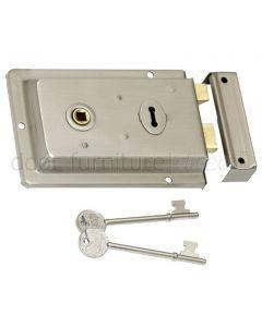 Satin Nickel Rim Lock 155x105mm