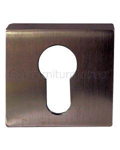 Imitation Bronze Euro Profile Square Escutcheon 50x11mm