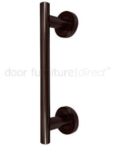 Imitation Bronze Covered Rose Pull Handle 225mm