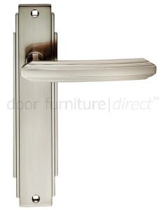 Satin Nickel Art Deco Latch Door Handles
