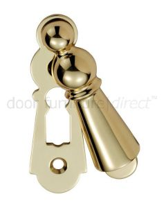 Delamain Large Covered Polished Brass Escutcheon 73x23mm