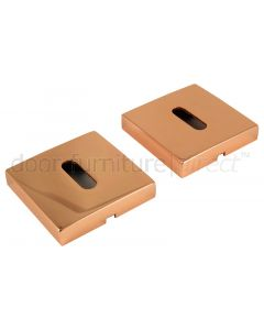 Copper Square Key Escutcheons 52mm In Pairs