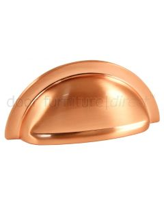Satin Copper Oxford Drawer Pull 76mm