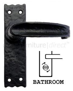 Fullbrook Iron Slimline Bathroom Door Handles