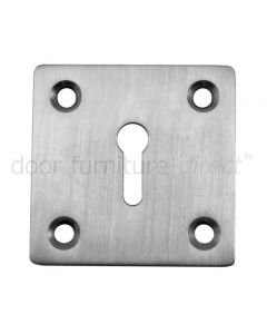 Satin Stainless Steel Square Key Escutcheon 50mm