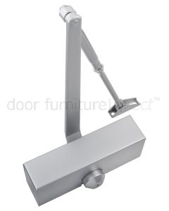 Size 3 Budget Overhead Door Closer Silver with Cover