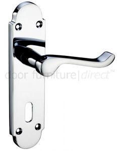 Oxford Polished Chrome Lock Door Handles