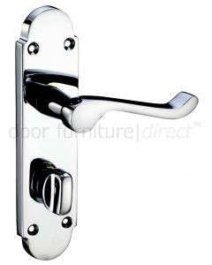 Oxford Polished Chrome Bathroom Door Handles
