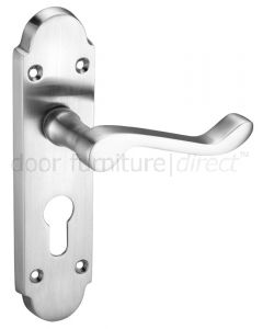 Oxford Satin Chrome Euro Profile Door Handles