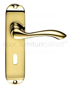 Arundel Electro Brass Lock Door Handles