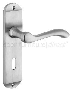 Arundel Satin Chrome Lock Door Handles