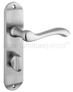 Arundel Satin Chrome Bathroom Door Handles