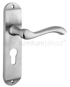 Arundel Satin Chrome Euro Profile Door Handles
