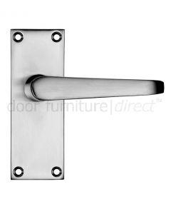 Victorian Flat Satin Chrome Latch Door Handles