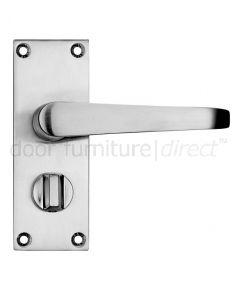 Victorian Flat Satin Chrome Privacy Door Handles