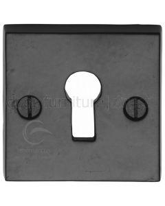 Black Iron Rustic Square Keyhole Escutcheon 54mm