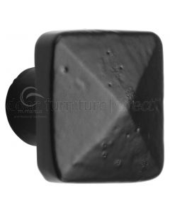 Black Iron Rustic Pyramid Cabinet Knob