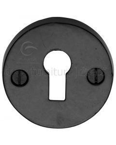 Black Iron Rustic Round Keyhole Escutcheon 45mm