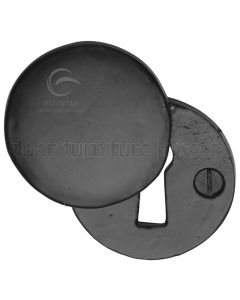 Black Iron Rustic Round Covered Escutcheon 45mm