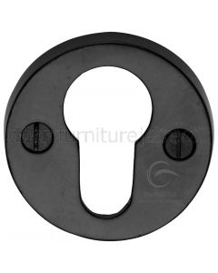 Black Iron Rustic Round Euro Cylinder Escutcheon 45mm