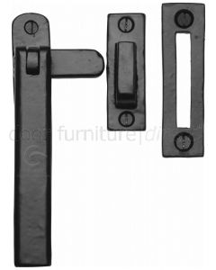 Black Iron Rustic Plain Style Casement Window Fastener