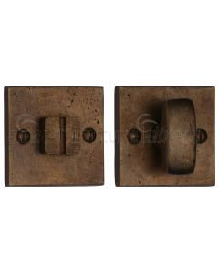 Solid Bronze Rustic Square Thumbturn and  Release 54mm