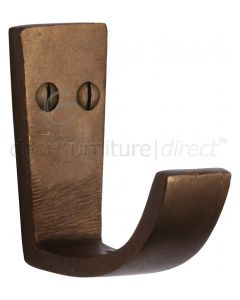 Solid Bronze Rustic Single Robe Hook 61mm