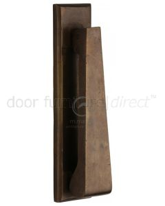 Solid Bronze Rustic Slim Door Knocker 167x40mm