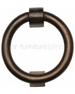 Solid Bronze Rustic Ring Door Knocker 107mm