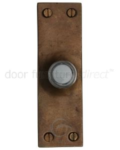 Solid Bronze Rustic Door Bell 103x32mm