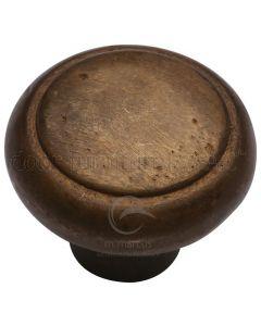 Solid Bronze Rustic Newport Cabinet Knob