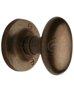 Solid Bronze Rustic Knowle Oval Mortice Door Knobs