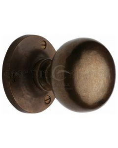 Solid Bronze Rustic Alveley Mortice Door Knob 55mm