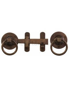 Solid Bronze Rustic Ring Handle Gate Latch 170mm