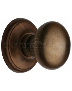 Solid Bronze Rustic Round Centre Door Knob 80mm