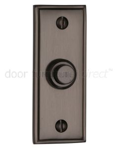 Matt Bronze Door Bell Push 83x33mm
