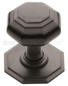 Matt Bronze Octagonal Centre Door Knob 71mm