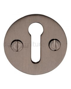 Matt Bronze Plain Escutcheon 32mm