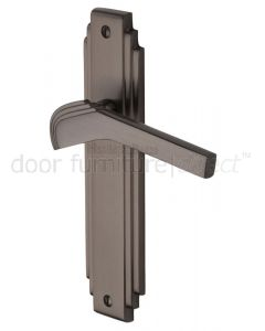 Tiffany Matt Bronze Art Deco Latch Door Handles