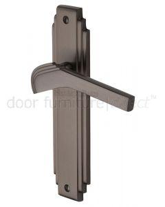 Tiffany Matt Bronze Art Deco Latch Door Handles