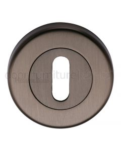 Matt Bronze Key Hole Escutcheon 53mm